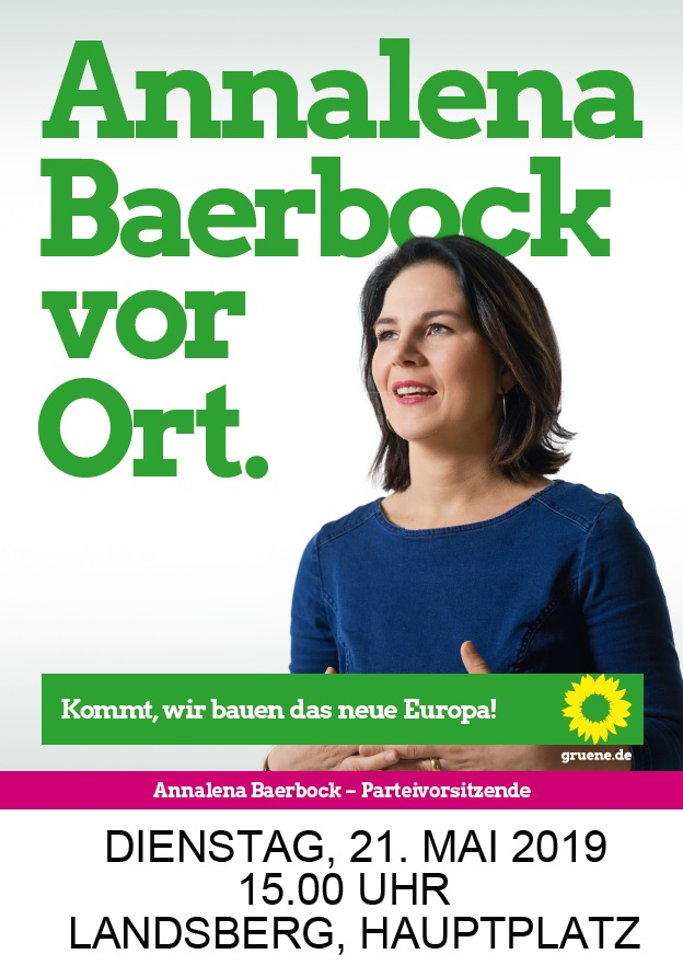 Annalena Baerbock am 21.5. in Landsberg