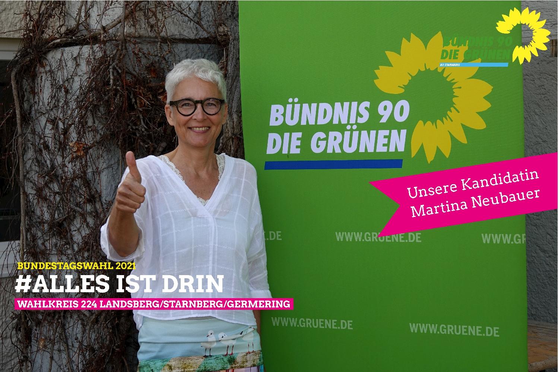 Martina Neubauer ist unsere Grüne Bundestagsdirektkandidatin