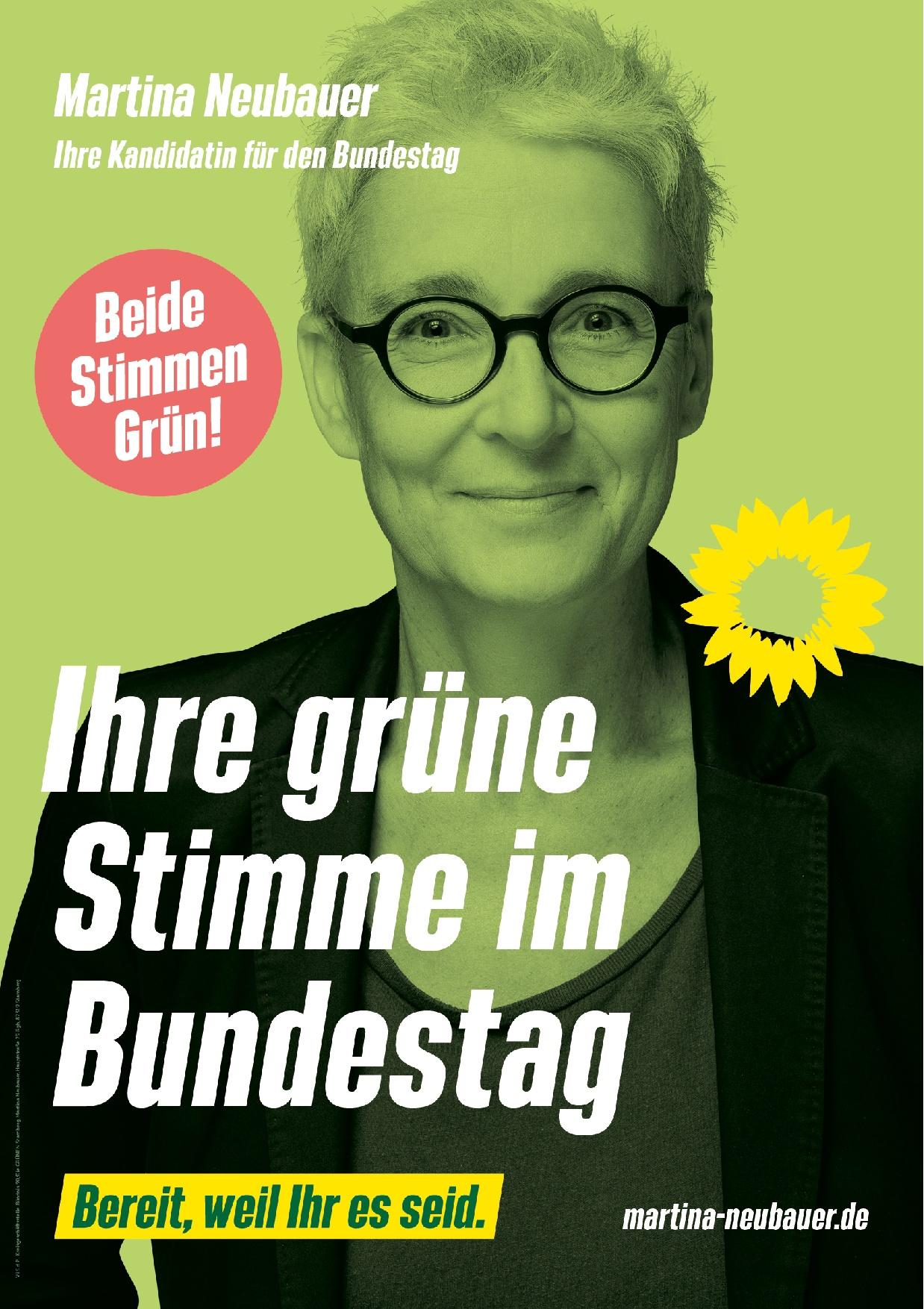 Unsere Grüne Bundestagsdirektkandidatin Martina Neubauer